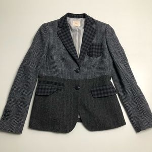 Brooks Brothers Gray Wool Blazer Womens Size 0